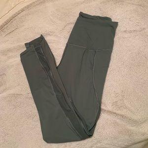 VS Sport army green leggings with mesh